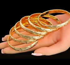 18k Yellow Gold Bracelet Bangle Women's Italian Starburst Design D226B