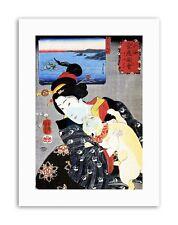 Mujer Gato Geisha Utagawa Kuniyoshi Japón cartel retrato de lona impresiones artísticas