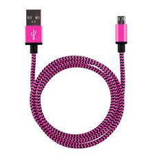 3m XXL Ladekabel Alu Micro USB Kabel Nylon Samsung HTC Huawei Wiko Sony 3 Meter