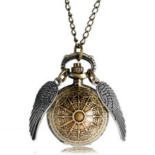 Harry potter Golden Wizard Snitch Quidditch Double Wings Quartz Fob Pocket Watch