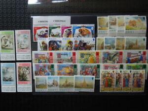 G690   JERSEY  CHRISTMAS  1988-2003  9  X  SET  MNH