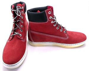 Timberland Shoes 6 Inch Premium Cupsole Red/Black Boots Size 10.5