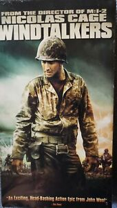 Windtalkers VHS Video Tape Movie Nicholas Cage Action Sealed 2002