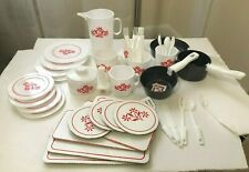 VINTAGE T-FAL TEA SET KIDS PLASTIC DISHES AND COOKWARE