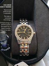 New Womens Citizen EW1906-54E Silhouette Eco-Drive Crystal Accented Watch! $325