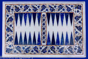 """18"""" x 12"""" Marble Backgammon Table Top Inlay Home Decor & gift"""