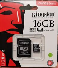 Kingston 16 GB Micro SD Karte (class 10 - 80 mb /s) NEUWARE