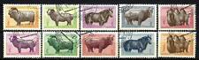 Animali Vari Mongolia (192) serie completa 10 francobolli timbrati
