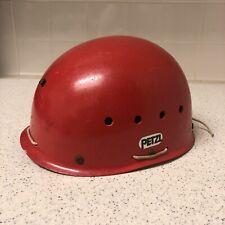 Vintage Petzl Caving Climbing Adventure Helmet, ECRIN, Size M 50-56 cm - Red
