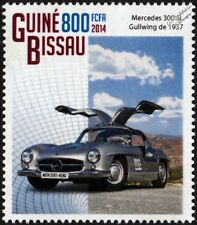 1957 MERCEDES-BENZ 300SL GULLWING Coupe Sports Car Stamp (2014)