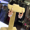 AAA QUALITY STERLING 925 SILVER  JEWELRY TOP RICH WHITE ZIRCON  SHAKIRA EARRINGS