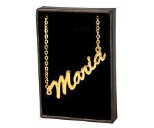 Maria de 18 quilates chapado oro chapado Collar Con Nombre-Accesorios gracias Joyas