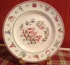 Vintage Johnson Brothers Christmas Salad Plate TWELVE DAYS OF CHRISTMAS 8 Maids