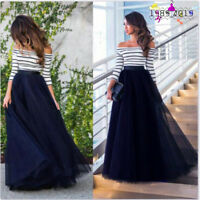 Womens Dress Lace Formal Evening Party Bridesmaid Wedding Prom Gown Long Dress