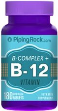 B COMPLEX PLUS VITAMIN B-12 PROTEASE NIACINAMIDE HEALTHY NERVOUS SYSTEM 180 TABS