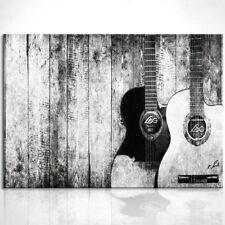 Musik Gitarre Musikinstrument Bild Leinwand Bilder Wandbilder Kunstdruck D0425