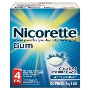 Nicorette Gum 4mg White Ice Mint 100 Pieces