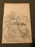 THE SHADOW blood judgment ORIGINAL COVER ART pre-lim HOWARD CHAYKIN AWESOME