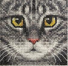 Grey TABBY CAT, KITTEN ~ Full counted cross stitch kit  *FIDO STITCH STUDIO