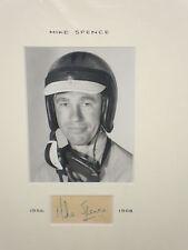 Mike Spence 1936 ~ 1968, montato Ritratto fotografia con firma molto rara,
