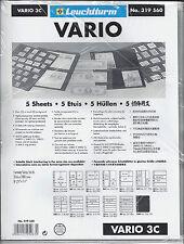 New Vario Stock Sheets 3C One-Sided Three Horizontal Pockets Clear Pkg. 5