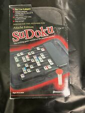 SuDoku Puzzle Travel Game  Attache Edition, Zippered Cloth Case  Pressman