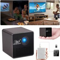 1080p HD P1 Cubo Dlp Proyector LED MINI HOME MOVIES Theater Multimedia USB / TF