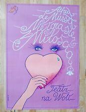 Vintage Polish teater poster (Alfred Musset) by S. Ratajski 1982