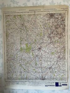 1949 Military System Map Kidderminster War Office Edition Worcestershire OS