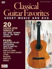 Classical Guitar Favorites Sheet Music and DVD Guitar Book and DVD 002501619