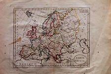 EUROPA MAPA, EUROPE MAP. Blondeau, s.XVIII.