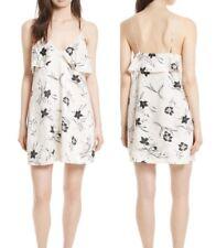 NWT Alice & Olivia Bess Slipdress Black & White Flowy Floral Dress Size XS