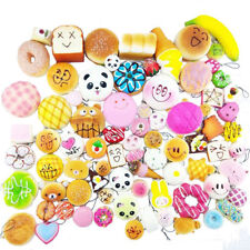 30Pcs/Pack Squishy Charms Soft Cake/Bread/Buns Phone Key Chain Bag Straps Mini