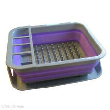 Dish Drainer RACK ACCESSORI PER ROULOTTE & CAMPER. POP Up Viola