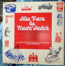 ALLA FIERA DE MASTR'ANDRE RARO LP VIRGILIO SAVONA MANNUCCI (QUARTETTO CETRA) EX