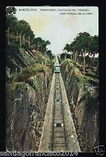 499.-BARCELONA -Ferrocarril  Funicular del Tibidabo Vista Parcial de la Línea