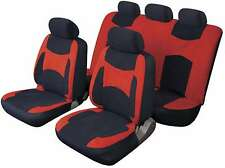 LAGUNA SECA UNIVERSAL FULL SET SEAT PROTECTOR COVERS RED & BLACK FOR FIAT