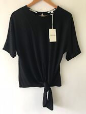 COUNTRY ROAD [CR LOVE] NEW! [SZ S,M,L,XL] RIB TIE FRONT TOP BLACK 10,12,14,16