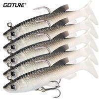 5 Piece Soft Fishing Lure Wobbler Swim Bait Silicone Isca Artificial Bait Carp F