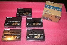 Box of 5 Sony Hi8 Metal-P 8mm Video Cassettes P6-60HMP NTSC, NEW, FREE SHIP