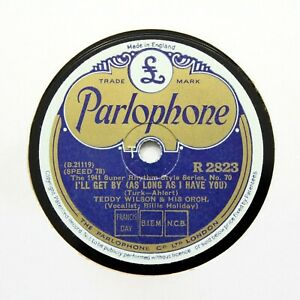 """TEDDY WILSON (Billie Holiday) """"I'll Get By / I Cried For You"""" PARLOPHONE [78]"""