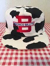 VTG Bronco Billys Strapback Hat cap Spotted Cow Dalmatian Pattern 15191497890c