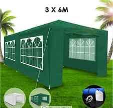 3x6m Green Walled Waterproof Outdoor Gazebo Heavy Duty Polyester Carry Bag