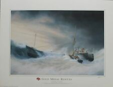 TIM THOMPSON. 3 OPEN PRINTS, 2 OF GOLD MEDAL RESCUES & 1 OF TWELVE METERS