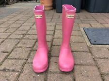 Junior Girls Hunter Wellies Pink UK Size 1