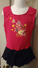 Girls Sz 8 - 10 Red High School Musical Gymnastic Dance Leotard w Skirt