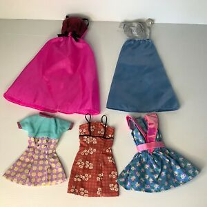Vintage 90s Barbie Doll Dresses x 5 All Genuine Barbie Tags Good Condition