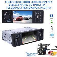 "Autoradio LCD 3,6"" Bluetooth AUX USB Telecamera 4 LED Auto Camper Retromarcia"
