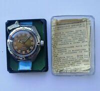 ☭ NOS New Watch Vostok 2409 Amphibian Scuba Diver USSR Vintage Soviet SERVICED
