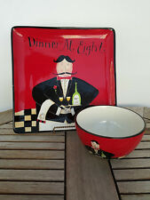 Certified International Dinner At Eight Dan Di Paolo Black White Checker Waiter